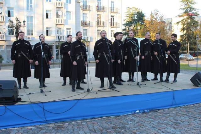 Gurian polyphonic singing at the Ozurgetoba - Alegroba 2014 celebration. Photo courtesy of მე მიყვარს ოზურგეთი