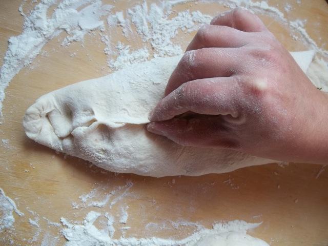 Sealing the lobiani - Copy