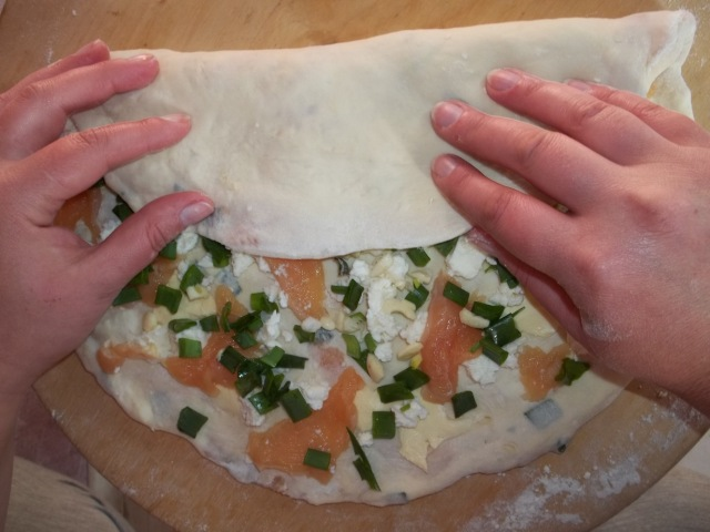 Wrapping the filling