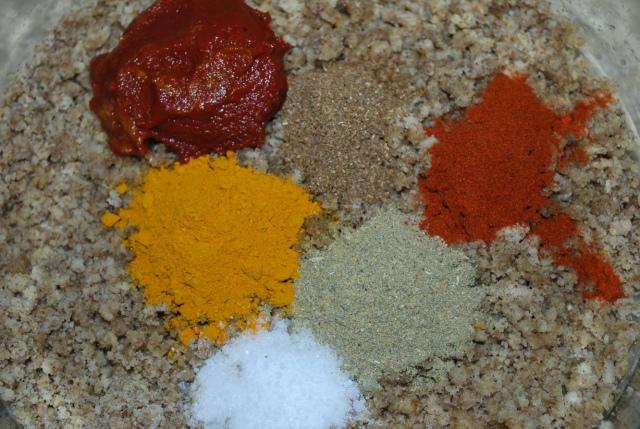 Adding Spices and Tomato Puree