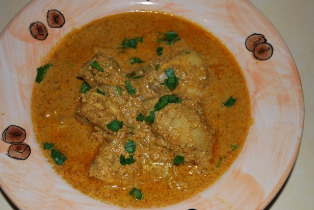 Chicken Kharsho serving