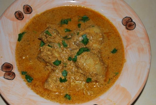 Chicken Kharsho serving