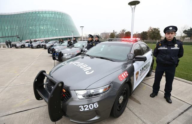 Patrol Police Ford Interceptor patrol cars. Photo courtesy of the Ministry of Internal Affairs.
