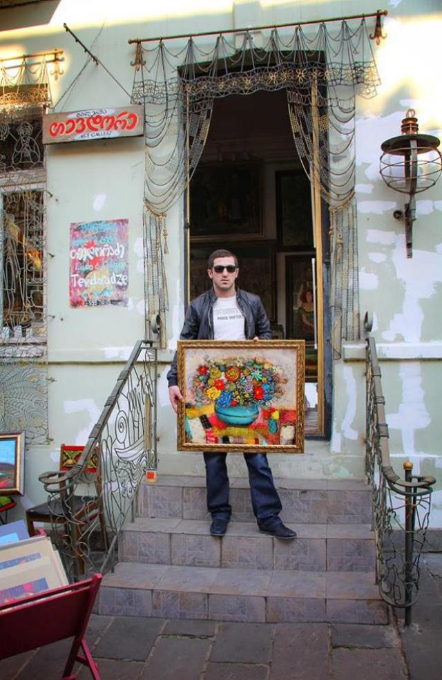 Guga Tevdoradze at the gallery Tevdore in Tbilisi