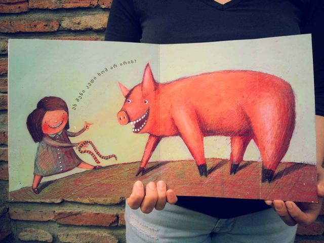 "Illustration for the book ""Who Lost The Tail?"" by artist Ana Chubinidze"