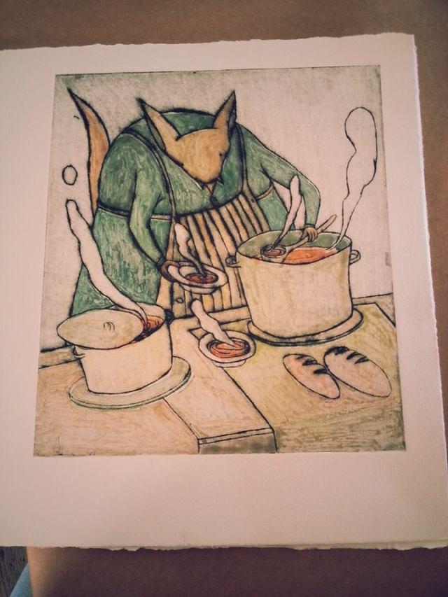 Illustration from Franzy's Soup Kitchen by artist Ana Chubinidze