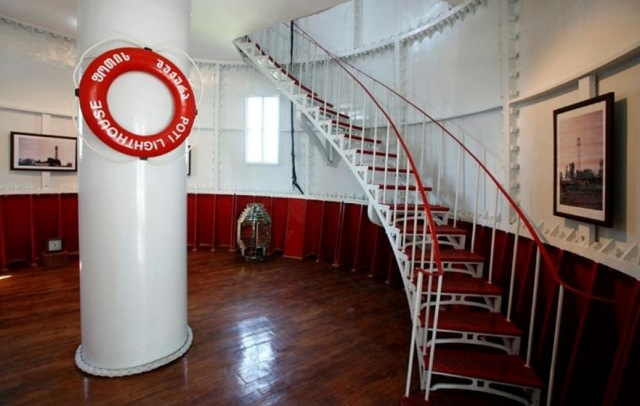 Interior of Poti Lighthouse. Photo courtesy of the Georgian State Hydrographic Service.