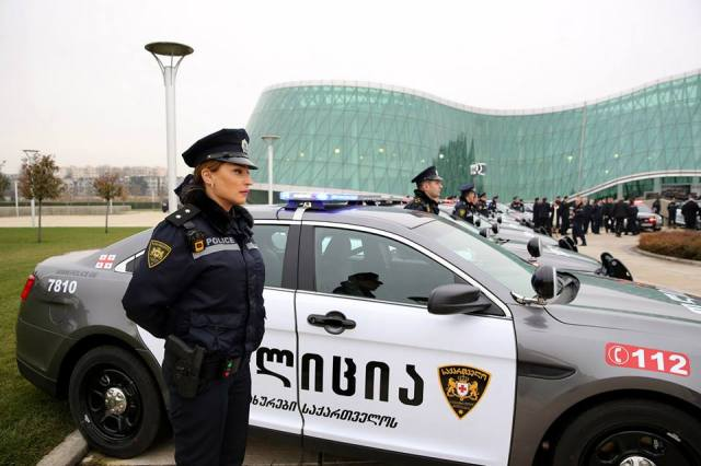 Patrol Police Ford Interceptor patrol cars. Photo courtesy of the Ministry of Internal Affairs