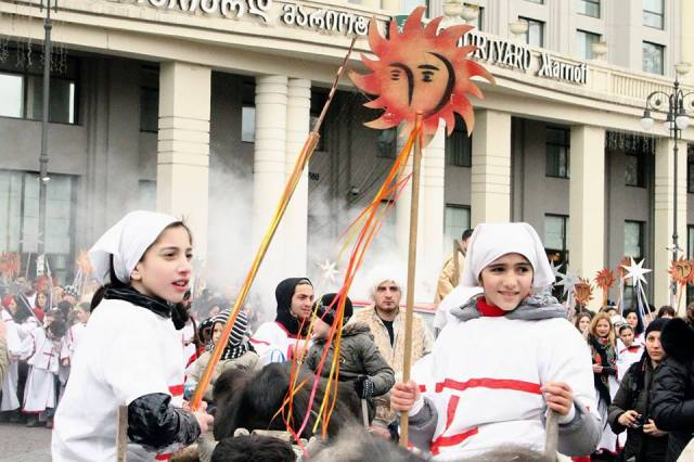 """Alilo"" procession in Tbilisi on 7 January 2015"