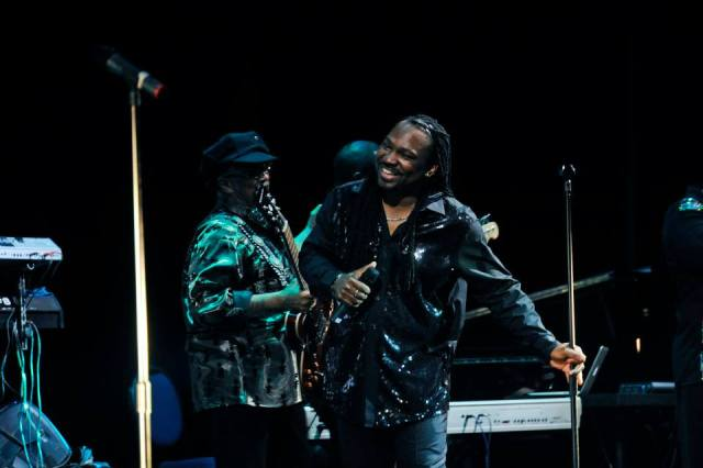American band Earth, Wind & Fire performing at the Tbilisi Concert Hall in January 2015