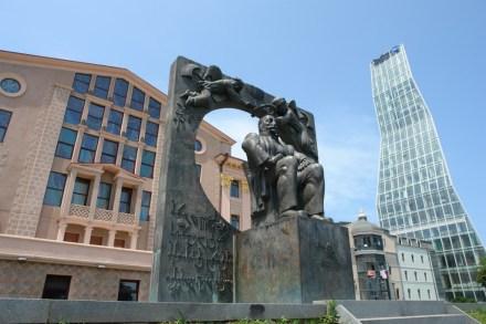 Ilia Chavchavadze's monument in the city of Batumi