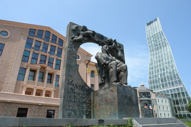 Ilia Chavchavadze's monument in the city of Batumi