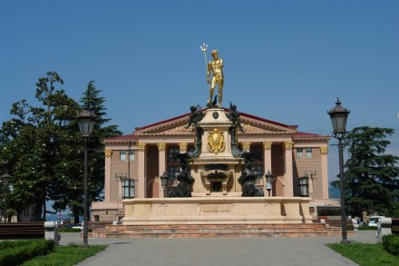 The Neptune Fountain in front of Batumi Drama Theater