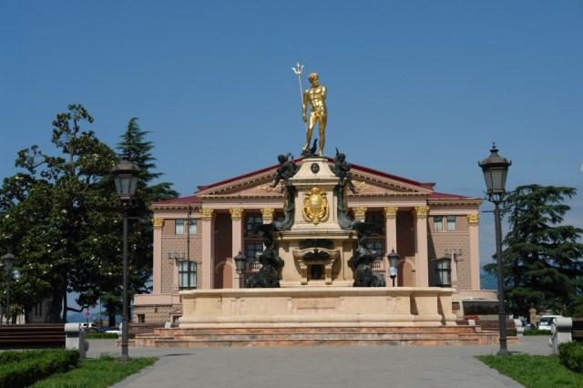 The Neptune Fountain in front of Batumi Drama Theater