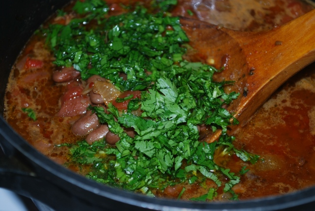 Adding Chopped Parsley