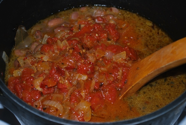 Adding Fried tomatoes and Onions