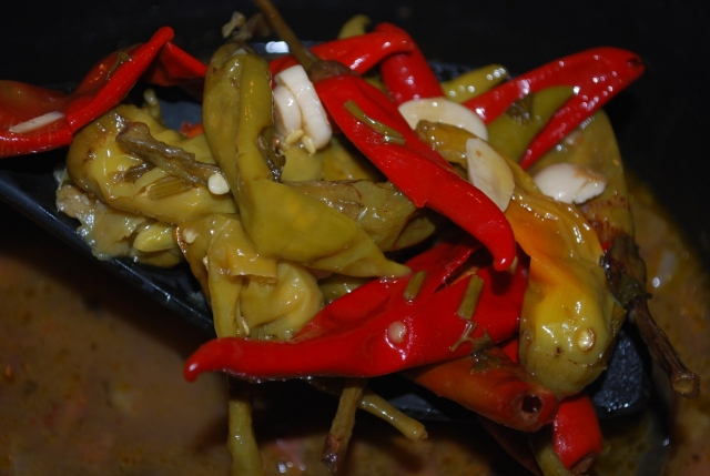 Adding Marinated Peppers