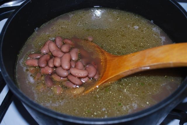 Cooking Lobio Beans
