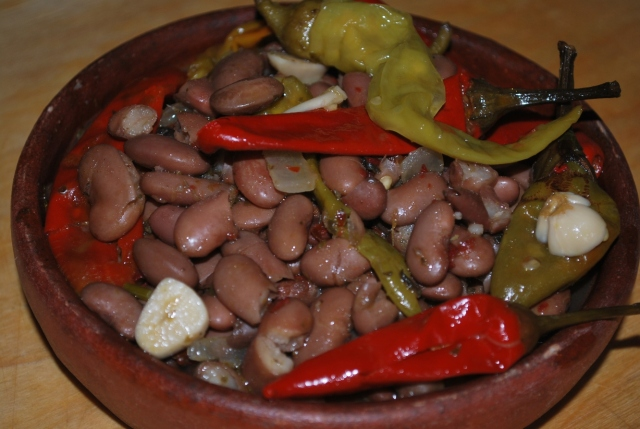 Lobio with Marinated Peppers