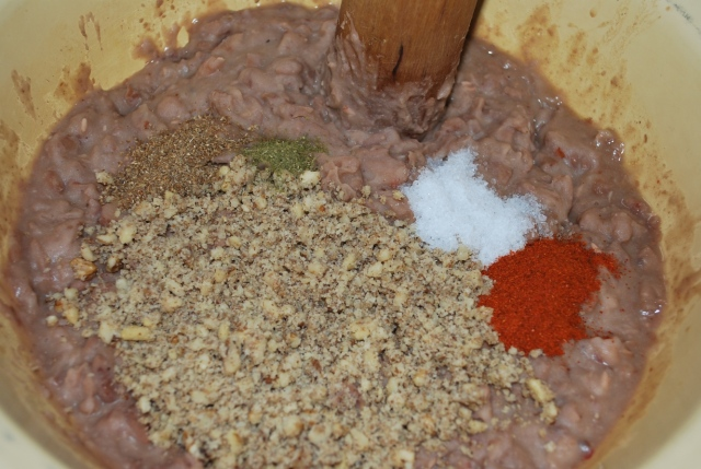 Adding nuts, spices, salt and herbs - Copy
