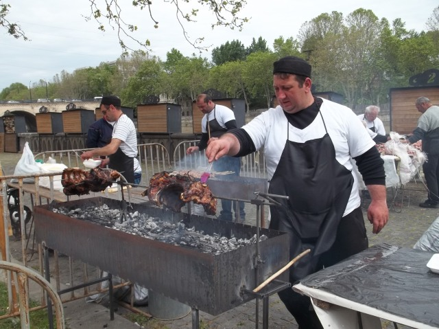 Barbecue at the New Wine Festival 2015
