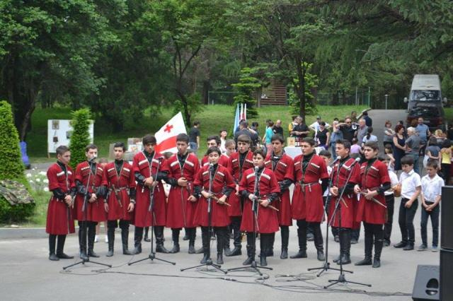 Traditional song performance in the town of Gurjaani (Georgian: გურჯაანი). Photo courtesy of the Georgian Government.