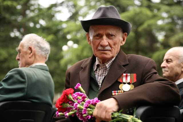 Veterans commemorating Victory Day