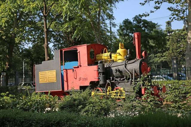 A steam locomtive from the world's first Childrens Railway at Mushtaidi Park