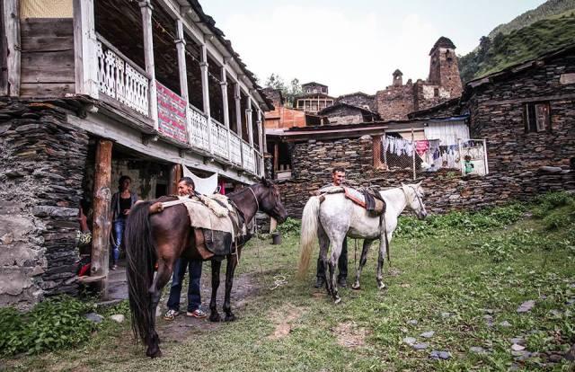 The historic village of Dartlo in Tusheti