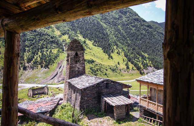 Dartlo village in Tusheti
