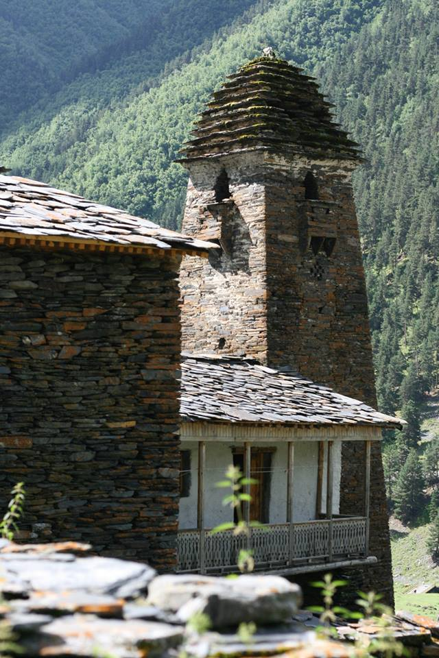 A medieval fortified tower in Dartlo village