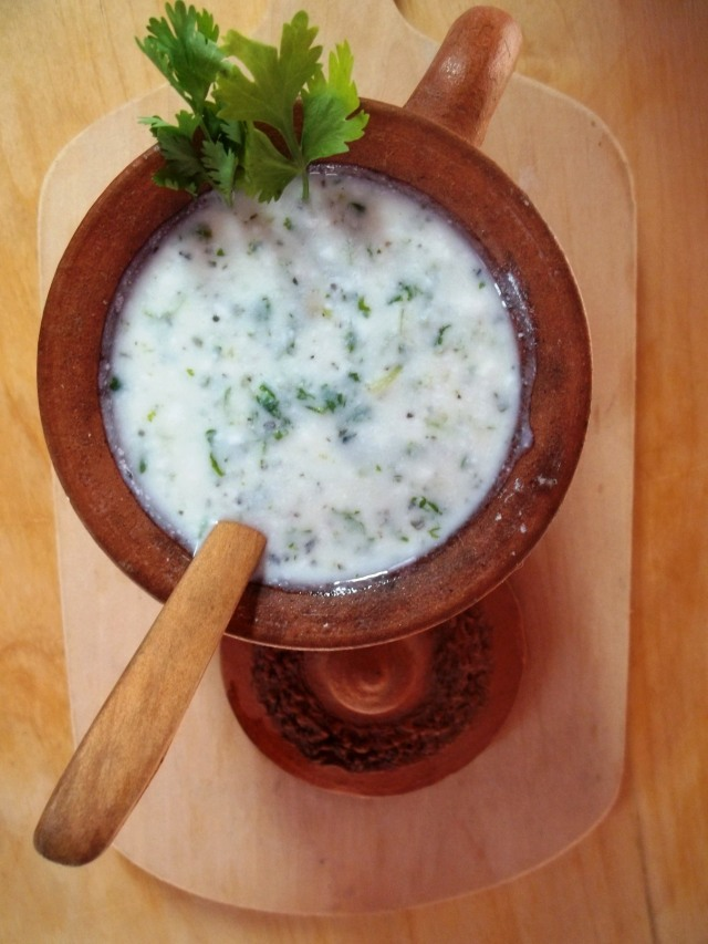 Cold Matsoni Soup ready to serve