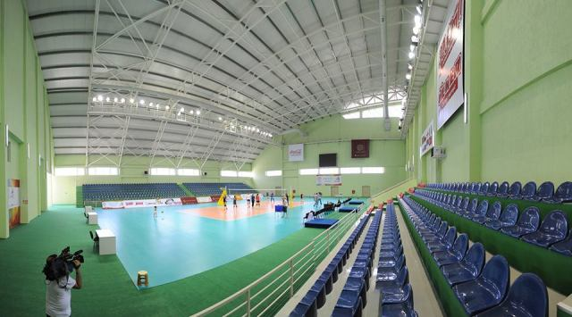 Facilities at the New Tbilisi sports complex on the shores of Tbilisi Sea