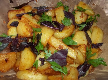 Fried Potatoes with Svanetian Salt