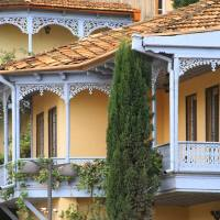 About Sights - Pastel colored houses and balconies of Tbilisi's Old Town
