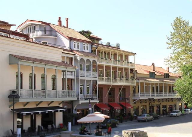 Balconied buildings in Tbilisi's Old Town