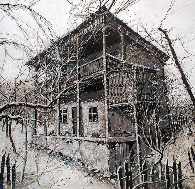 House by Georgian artist Guram Khetsuriani