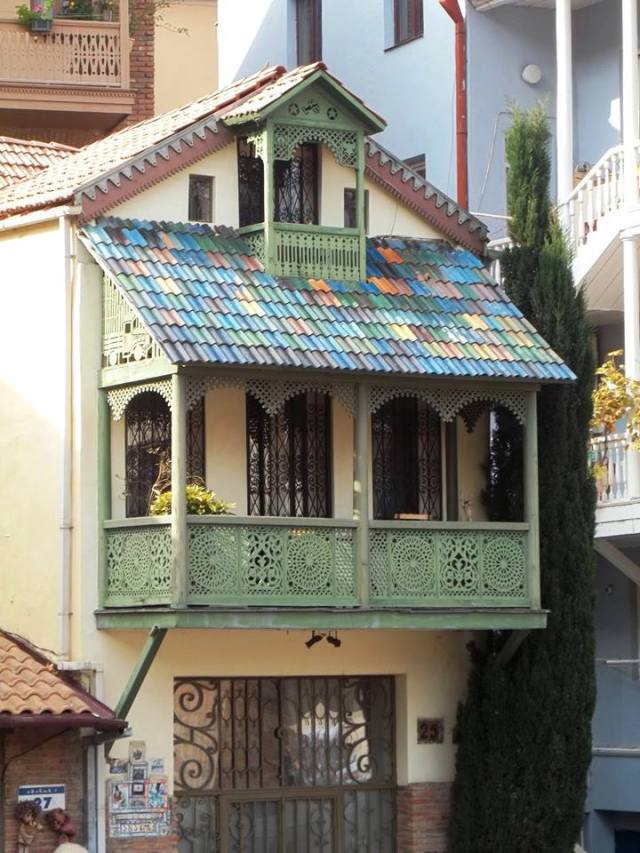 A colorful house in Tbilisi's Old Town District. Photo by Georgia About