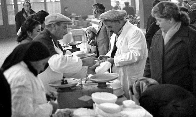 Buying cheese in a Tbilisi market in 1976