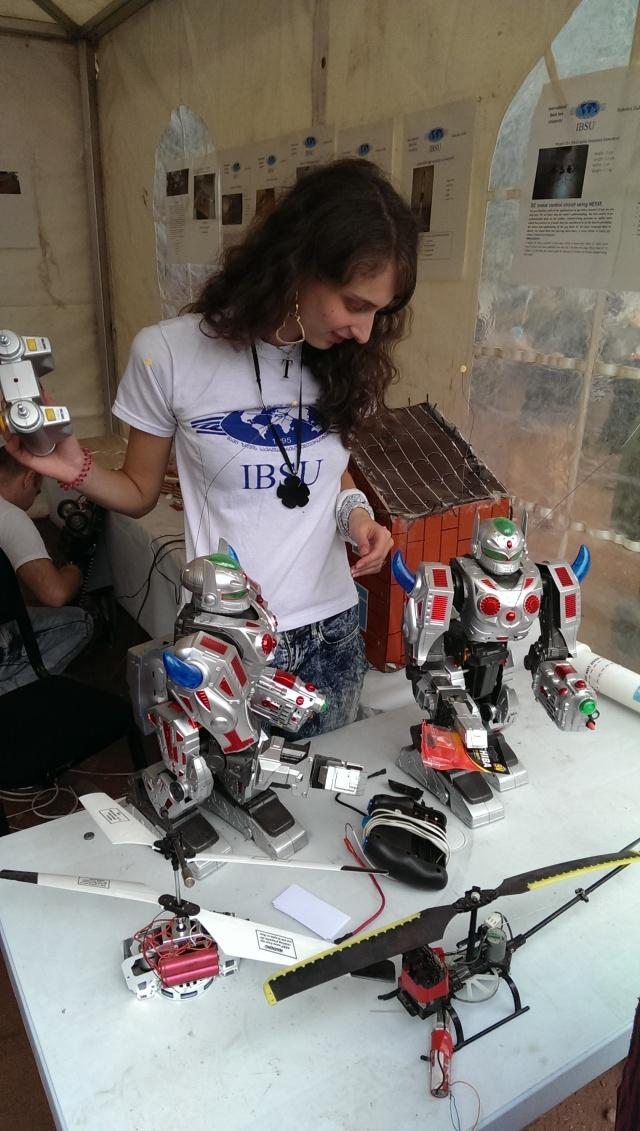 Robot exhibits at the Scientific Picnic at Vake Park in Tbilisi