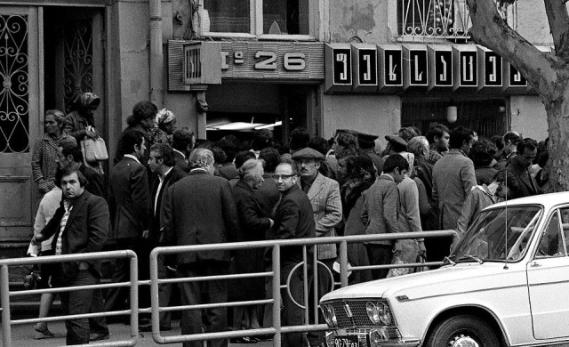 Shoppers in a Tbilisi street in 1976