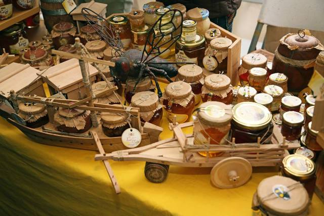 A display of honey at Tbilisoba 2015