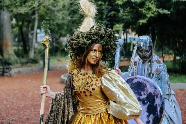 A Medusa character at the Tbilisoba 2015 procession