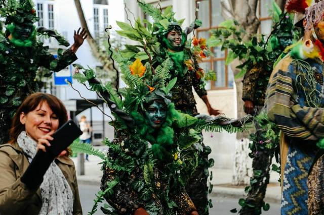 The nature themed procession at Tbilisoba 2015