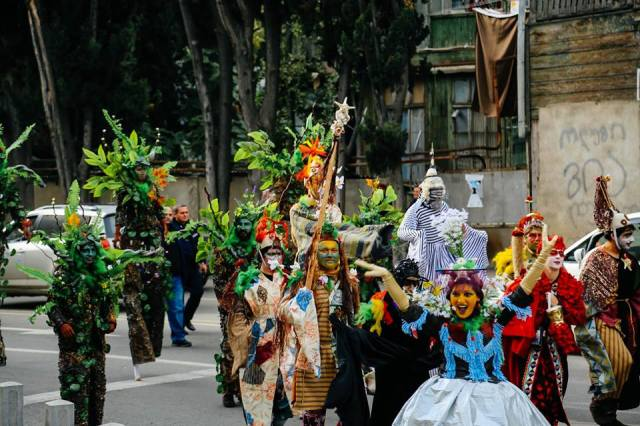 Nature themed procession at Tbilisoba 2015