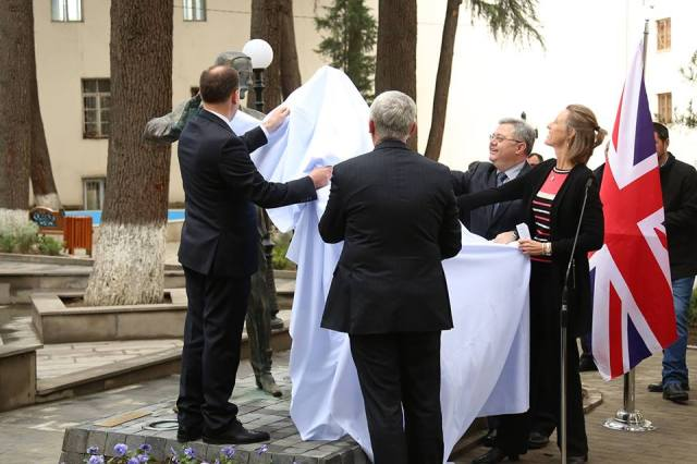 Unveiling the Oliver and Marjory Wardrop statue in Tbilisi