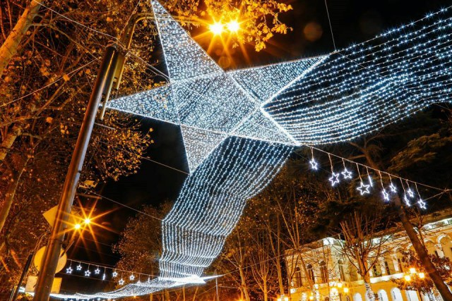 Christmas illuminations in Tbilisi