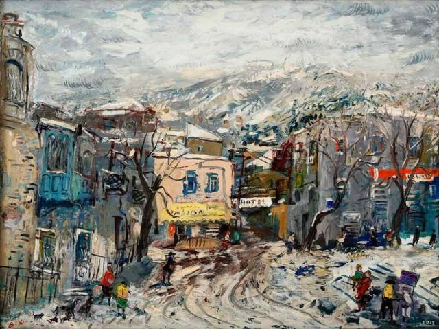 """Winter"" - oil on canvas by Giorgi (Gogya) Kukhalashvili"