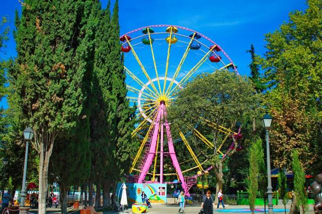 The Ferris wheel in Mushtaid Garden