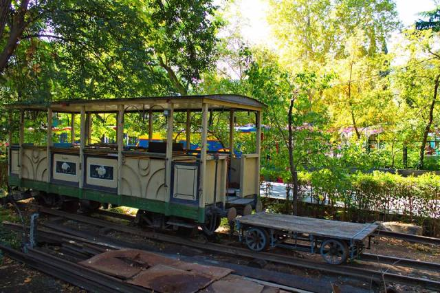 A carriage from the Children's Railway in Mushtaid Garden